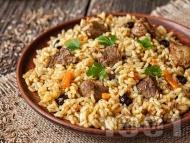 Рецепта Агнешки пилаф с бял ориз и агнешко филе по турски